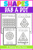 Shapes Dab a Dot Worksheets
