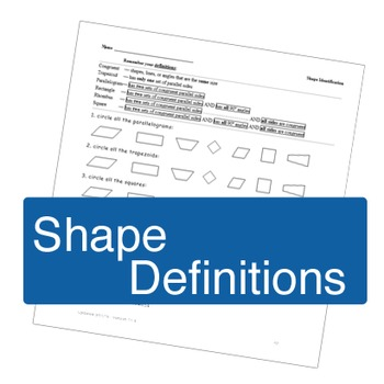 Shapes Definition ws