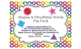~Shapes & Directional Words Fun Pack~