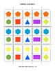Shapes Dominoes Set - Matching Geometry Math Center Game