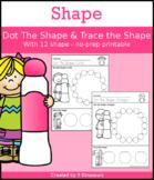 Shapes: Dot Shape & Trace the Shape