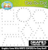 Shapes Dot-To-Dot Clipart {Zip-A-Dee-Doo-Dah Designs}