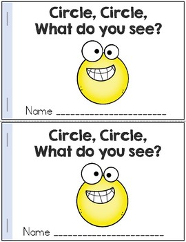 Shapes Emergent Reader: Circle, Circle, What Do You See?