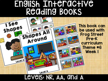 Shapes English Interactive Reading Books Can Be Used With Frog Street