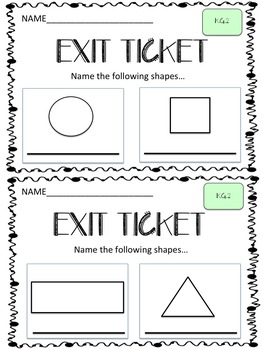 Shapes Exit Ticket