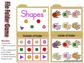 Shapes File Folder Game 08092013