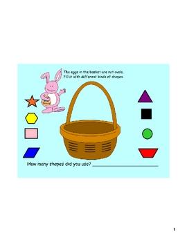 Shapes Fill the Basket-Easter or Spring