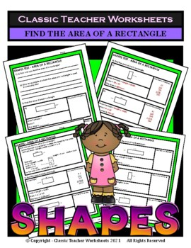 Shapes - Find the Area of a Rectangle - Grades 3-6 (3rd-6th Grade)