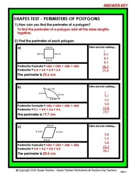 Shapes - Find the Perimeter of a Polygon - Grades 4-6 (4th-6th Grade)