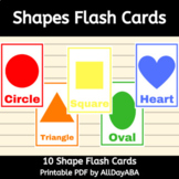 Shapes Flash Cards - by AllDayABA