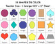 Shapes Clip Art Flashcards with 4 Game Ideas - Basic