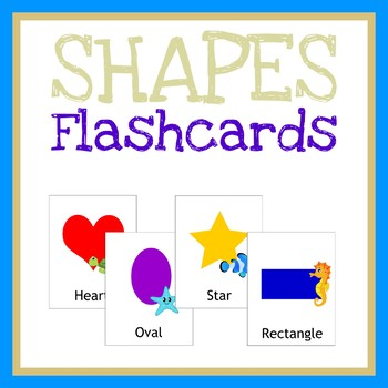 Shapes Flashcards, Learning Games, Printable Worksheet, Quiet Book Activity