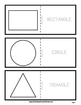 Shapes Flashcards - Colour the Flashcards - Kindergarten to Grade 2 (2nd Grade)