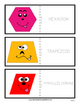 Shapes with Faces Flashcards - Cut & Fold - Kindergarten to Grade 2 (2nd Grade)