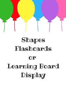 Shapes Flashcards or Learning Board Display