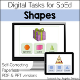 Shapes | Flat and Solid 3D | Digital Tasks for Special Education