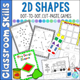 Shapes Activities Dot to Dot, Cut Paste, Games and More