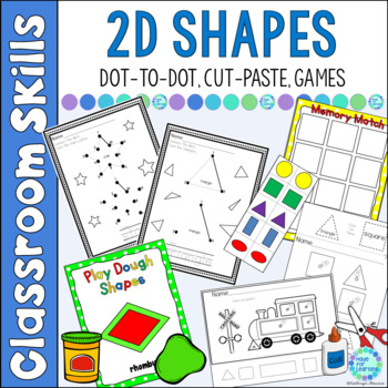 Shapes For Beginners: Dot-to-Dot, Cut & Paste, Games and More