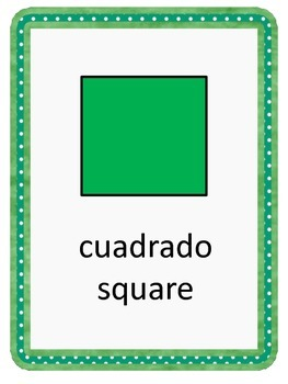 Shapes For Primary In Spanish and English