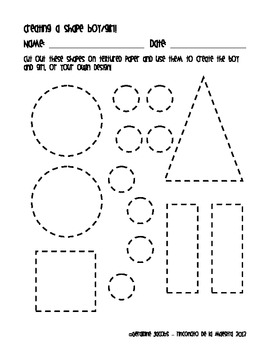 Shapes Freebie! Printable activities for multiple intelligence learners
