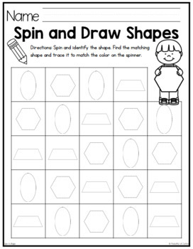 Shapes Game {2D & 3D Spin-A-Shape}