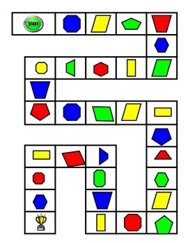 Shapes Game Board and 2 Digit - 1 Digit Subtraction Game