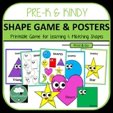Match and Learn Shapes Game plus Shape Posters