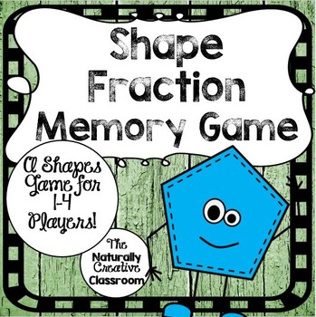 Shapes Game:  Shapes Fraction Memory Game