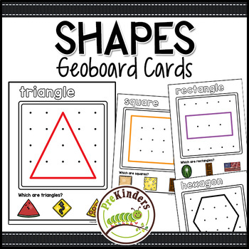 Shapes Geoboards: Shape Activity for Pre-K Math