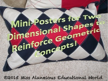 Shapes Gone Wild! Beautiful Mini-Posters to Reinforce Geometric Concepts!