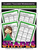 Guess the 2D Shapes - Read the Clues Write the Shapes-Grades 3-4 (3rd-4th Grade)