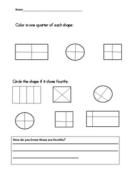 Shapes: Halves and Quarters