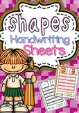 Shapes Handwriting Worksheets (B&W/Color)