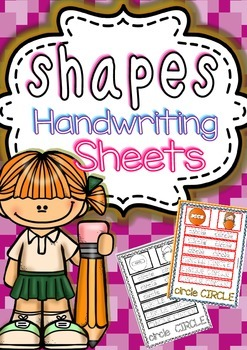 Shapes Handwriting Worksheets (B&W/Color)