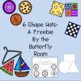Back to School-Shapes Hats for PreK/Preschool/Kindergarten