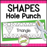 Shapes Hole Punch Cards