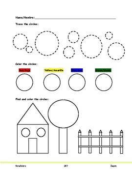Shapes Homework Set