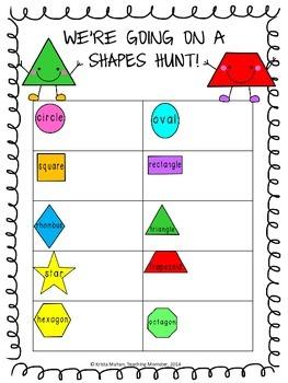 Shapes Hunt {FREEBIE}