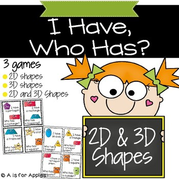 Shapes I Have, Who Has (2D & 3D)