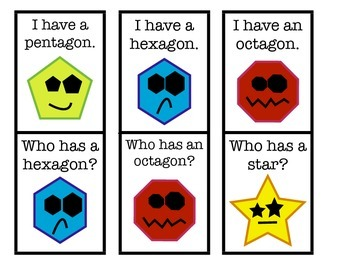 Shapes:  I have / Who has GAME!