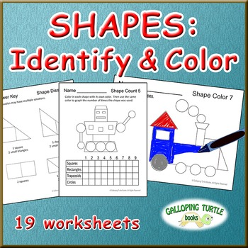 Shapes: Identify & Color
