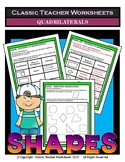 Shapes - Identifying & Properties of Quadrilaterals - Grades 4-5 (4th-5th Grade)