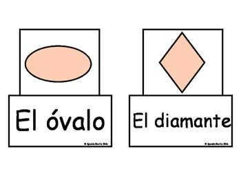 Shapes- Interactive Flash Cards-Spanish