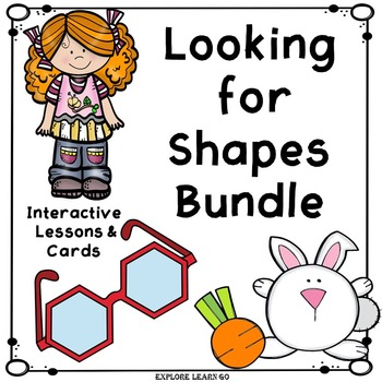 Shapes Interactive Math Cards & Lessons Bundle / Montessori Style / Hands-on