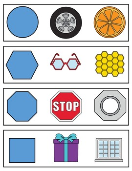 Shapes Interactive Math Cards & Lessons / Montessori Style / Hands-on
