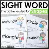 Shapes Interactive Sight Word Reader Bundle | Shape Activi