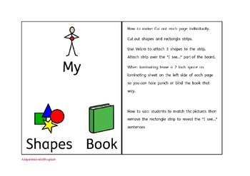 Shapes Interactive/adapted book