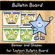 Shapes Lacing Card Activity and Bulletin Board Set 50% off 48 hours