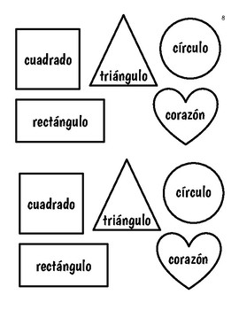 "Shapes ""Las Formas"" Spanish Lessons"