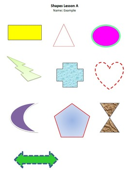 Shapes Lesson A Technology Lesson Plan & Materials